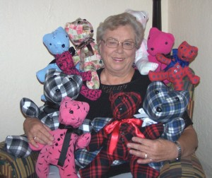 Jan Stewart makes Memory Bears